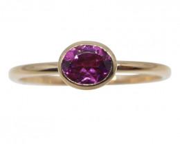 Tourmaline Stacker Ring set in 10kt Pink/Rose Gold