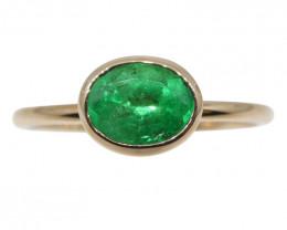Emerald Stacker Ring set in 10kt Pink/Rose Gold