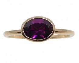 Rhodolite Garnet Stacker Ring set in 10kt Pink/Rose Gold
