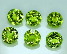 9.35 Carats Top Quality Round Cut Peridot 6 Gemstone
