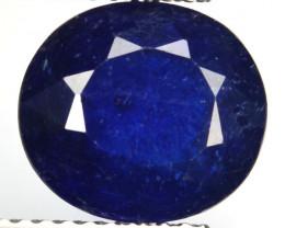 4.92 Cts Navy Blue Sapphire Composite Oval Cut Madagascar
