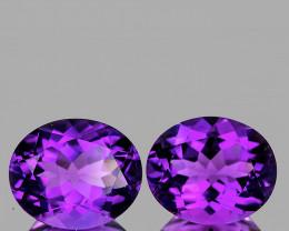 11x9 mm Oval 2 pcs 6.88cts Purple Amethyst [VVS]