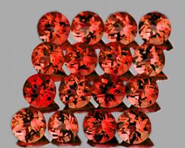2.50 mm Round 30 pcs 2.45cts Red Orange Rhodolite Garnet [VVS]
