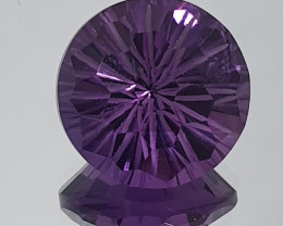 4.8 ct Amethyst Faceted Round 11 mm Fancy Cut(SKU 129)