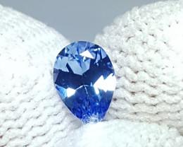 0.56 CTS NATURAL STUNNING PEAR MIX CUT LIGHT BLUE SAPPHIRE SRI LANKA
