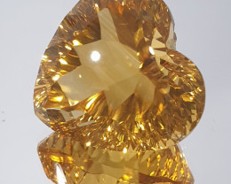 19.49ct Citrine Heart Shape 17mm Top Color(SKU  127)