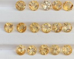 Round shape 20.57 Carats Citrine  Gemstones Parcels