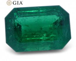 1.56 ct Emerald Cut Emerald GIA Certified