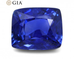 1.50 ct Blue Sapphire Cushion GIA Certified Unheated, Sri Lanka