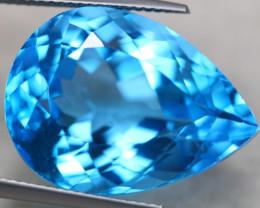 32.88ct Natural Swiss Blue Topaz Pear Cut Lot P389