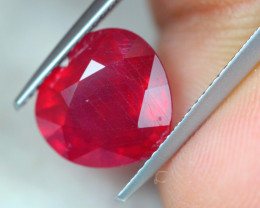 5.70ct Blood Red Ruby Heart Cut Lot P215
