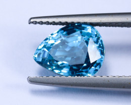4.40ct Lab Certified Blue Zircon