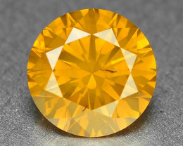 1.23 Cts  Fancy  Vivid  Orange Yellow Color Natural Loose Diamond
