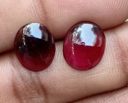 Almandine Garnet Cabochon Pair Natural+Untreated VA5184
