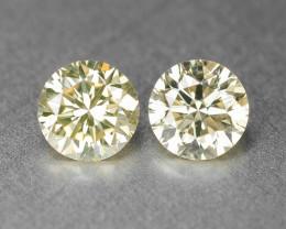 0.62 Carat -Pair - Natural Fancy Yellow Color Loose Diamond