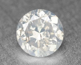 0.33 Cts Untreated Fancy White Grey Color Natural Loose Diamond