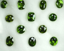 9.42 Cts Natural Sparkling Green Zircon Srilanka Mixed Shape parcel
