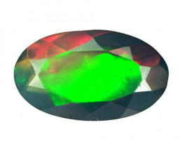 1.26 Cts Smoked Ethiopian Multi-Color Play Opal Oval Cut