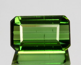 1.55 Cts Natural Neon Green Tourmaline Octagon Cut Nigeria