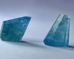 22.50 CT Natural & Unheated Blue Aquamarine Handmade Crystal