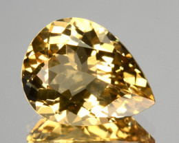 Splendid!!!   2.37 Cts Natural Peach Yellow Morganite Pear Cut Brazil