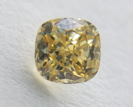 0.18 cts, VVS purity ,  Cushion cut diamond , Yellow color diamond