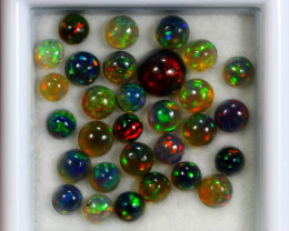 3.73 ct natural smoked Ethiopian black opal