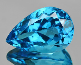 10.75 Cts Rare London Blue Color Natural Topaz Gemstone