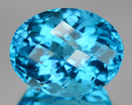 16.80 Cts Rare London Blue Color Natural Topaz Gemstone