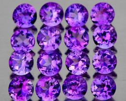 3.00 mm Round 30 pcs 3.00cts Purple Amethyst [VVS]