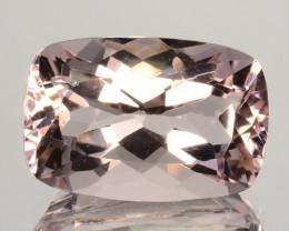 ~UNHEATED~ 4.05 Cts Natural Light Pink Morganite Cushion Cut Brazil