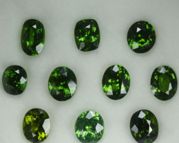15.08 Cts Natural Sparkling Green Zircon Srilanka Mixed Shape parcel