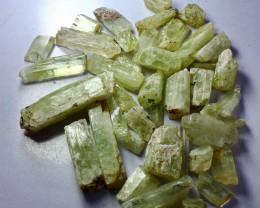 507.40 CT Natural - Unheated Yellow  Hiddnite Kunzite Crystal