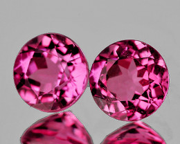 4.00 mm Round 2 pcs Pink Tourmaline [VVS]