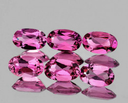 5x3 mm Oval 6 pcs 1.23cts Pink Tourmaline [VVS]