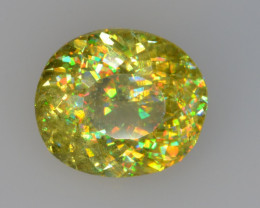 NATURAL SPHENE WITH DRAMATIC FIRE GEMSTONE SP36