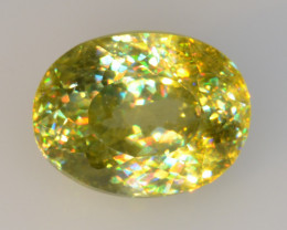 0.95 CT SPHENE WITH DRAMATIC FIRE GEMSTONE SP40