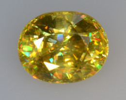 0.69 CT SPHENE WITH DRAMATIC FIRE GEMSTONE SP45