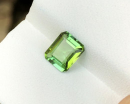 1.05 Ct Natural Green Transparent Tourmaline Gemstone