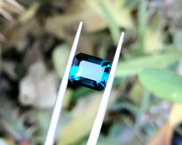3.15 Ct Natural Blue Transparent Tourmaline Ring Size Gemstone