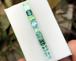 5.55 Ct Natural Green & Blue Transparent Tourmaline Ring Size Gemstones