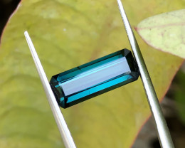 3 Ct Natural Blue Transparent Tourmaline Gemstone