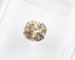 0.57ct Natural Fancy yellowish Brown Diamond IGI certified  VS
