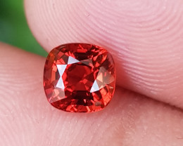 NO TREAT 1.23 CTS NATURAL STUNNING ORANGY FIRE SPINEL FROM BURMA