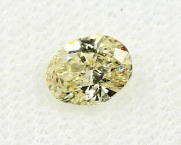 0.63ct Natural Diamond Fancy Intense Yellow Oval Diamond HRD  certified SI2