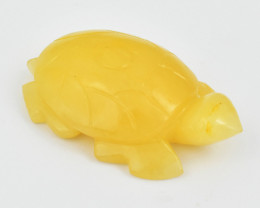 Genuine 700.00 Cts Yellow Aventurine Carved Turtle
