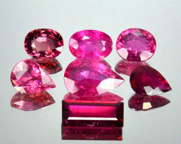 16.85 Cts Dazzling Natural Pink Rubelite Tourmaline 7Pcs Mozambique (Video