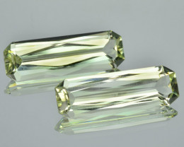 9.85 Cts MARVELOUS NATURAL GREEN BERYL BRAZIL 2 PCS (Video Avl)