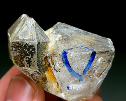 Amazing Damage free DT Enhydro twin Diamond Quartz have water bubble 220Cts