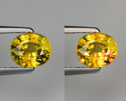 0.85 CT SPHENE WITH DRAMATIC FIRE GEMSTONE SP18